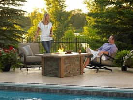 Sierra Fire Pit Table with CF-2424 Burner