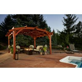 Sonoma 1216 and 16 Pergola-Redwood