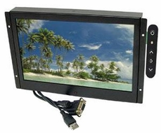 "Accele Custom (LCDM102WVGA) 10.2"" Metal Housed Flush Mount TFT LCD Monitor with VGA Input"