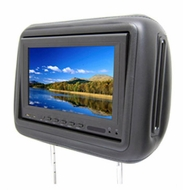 "AcceleVision (AXHR8500DBK) 8.5"" Dual Media LCD Pre- FAB Headrest Monitor Kit - Black"