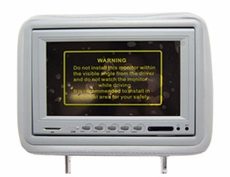 """AcceleVision (AXHR8500DGK) 8.5"""" Dual Media LCD Pre- FAB Headrest Monitor Kit - Gray"""