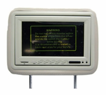 "AcceleVision (AXHR8500DTK) 8.5"" Dual Media LCD Pre- FAB Headrest Monitor Kit - Tan"