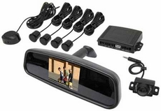 "AcceleVision (RV3500K) Replacement Rearview Mirror Kit with 3.5"" LCD Monitor, Rear View Camera & 4 Back Up Sensors"