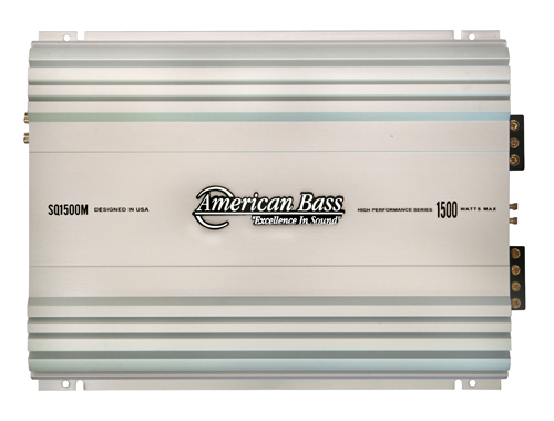 american bass (sq 1500m) 1500 watt mono block, 1 ohm stable amplifierSq Series Amplifiers #10