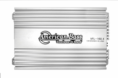 American Bass (VFL-160.4) 2 Ohm Stable D Class Mono Block Amplifier