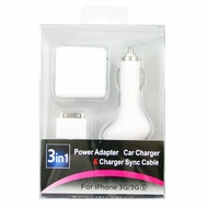 Aoko (3IN1-CHARGER) 3 in 1 Charger for Apple iPhone, iPod, Nano