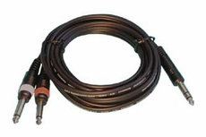 "Audio 2000 (ADC210R) 20ft, 4 X 8mm Cables 1 X 1/4"" Stereo Plug to 2 X 1/4"" Mono Plugs"