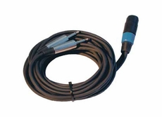 """Audio 2000 (ADC2849-5) Speaker Cables, 25ft (7.6M) 16AWG, 2 X 1/4"""" - SPKN(F,2 Pin)"""