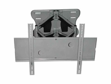 Audio 2000 (AST420W) Flat Panel TV/ Monitor Wall Mount with +/ -12 Degree Tilt Angle and +/ -90 Degree Swivel Angle (Silver)
