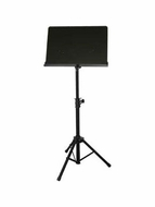 Audio 2000 (AST4384B) Premium Heavy-Duty Sheet Music Stand, Black (for Orchestra)
