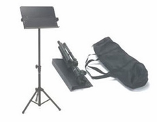 Audio 2000 (AST444) Portable Metal Sheet Music Stand with Carrying Bag (for Orchestra)