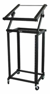 Audio 2000 (AST4616) Steel Equipment Stand and Rack with Mixer Desk and Heavy-Duty Casters