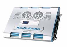 Audiobahn (A12001DJ) 1500 Watts x 1 @ 1 Ohm, Class D Mono Block Amplifier with Large Display Volt Meter