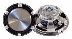 """Audiobahn (AW1004J) Low Profile Subwoofers Dual 4 Ohm Voice Coil with Multi-connect 10"""""""