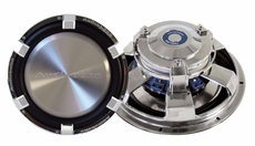 """Audiobahn (AW1204J) Low Profile Subwoofers Dual 4 Ohm Voice Coil with Multi-connect 12"""""""