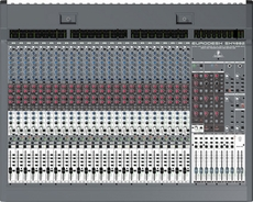 Behringer (EURODESK SX4882) Ultra-Low Noise Design 48/24-Input 8-Bus In-Line Mixer with XENYX Mic Preamplifiers, British EQs and Integrated Meterbridge