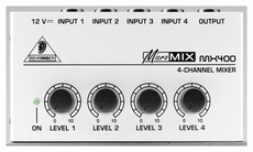 Behringer (MICROMIX MX400) Ultra Low-Noise 4-Channel Line Mixer