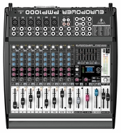 Behringer (PMP1000) 500-Watt 12-Channel Powered Mixer with Multi-FX Processor and FBQ Feedback Detection System