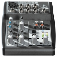 Behringer (XENYX 502) Premium 5-Input 2-Bus Mixer with XENYX Mic Preamp and British EQPremium 5-Input 2-Bus Mixer w/XENYX Mic Preamp & British EQ