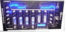 "GLI Pro (Blue MX-4400 USB) 19"" 4-Channel Mixer w/USB & LED Lights"