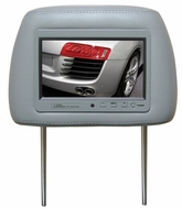 """Boss Audio (7HRT) Universal Headrest with Pre-Installed 7"""" TFT Video Monitor, Tan"""