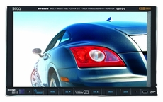 "Boss Audio (BV9555) In-Dash Motorized Double-Din DVD/MP3/CD AM/FM Receiver with 7"" Widescreen Touchscreen TFT Monitor with USB and SD Memory Card Ports and Side Panel Aux Input"