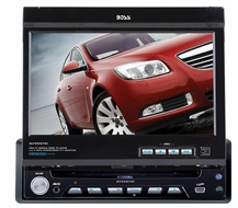 "Boss Audio (BV9997BI) Bluetooth®-Enabled In-Dash DVD/MP3/CD Receiver with Motorized Flip-Out 7"" Widescreen Touchscreen TFT Monitor with Full iPod Control with USB and SD Memory Card Ports and Front Panel Aux Input"