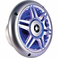 "CPS (CPS650SMTSBL) Sport Series, 6.5"" 2-Way 165W Max Speaker, Silver with Blue LED Lights"