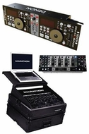Denon DJ (19YEARDJITCH) ITCH Package - DN-X500 Mixer, DN-HC5000 w/Serato ITCH and MA-19MIXLTBLK Case
