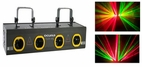 DEURA (DEURA-4RG) Four Tunnels Double Red and Green Motor Laser Light