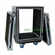 DJK (DJK-12UADS22C) 12 Space Shock Mount Deep Amplifier Rack Case with Casters