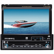 """Dual (XDVD710) 7"""" Motorized Touch Screen Signle DIN DVD Receiver/Monitor with XM Ready and iPod Control"""