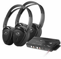 Farenheit (HP-902RFT) 2 Swivel Ear Pad 2-Ch RF 900MHz Wireless Headphones with Transmitter