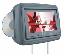 "Farenheit (HRD-9GR) 1 Pair Pre-Loaded 8.8"" Wide 16:9 Touch Screen Universal Replacement Headrest Monitors, Twin DVD Combo with 2 Headphones"