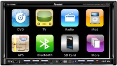 "Farenheit (TID-735NRBT) Exact Double Din A/V Source Unit w/ 7"" TFT-LCD Touch Screen w/Bluetooth 2.0"