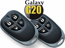 Galaxy (G20) Keyless Entry Car Security System with Two 4-Button Remotes