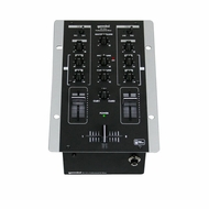 """Gemini (PS-121x) 6.5"""" 2-Channel Stereo Mixer with 2 Line / 2 Phono RCA inputs"""