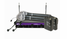 Gemini (VHF-2001HL) Dual Channel Wireless System with 100' range