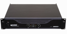 Gemini (XP-3000) Professional Power Amplifier 2 x 750 watts RMS, Stable at 2 Ohms