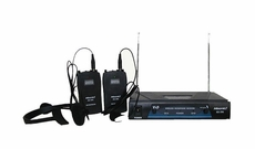 Hisonic (HS596) Dual Channel Headset/ La Pal VHF Microphone System