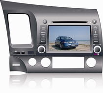 Honda Civic OEM (Factory Fit) In-Dash CD/DVD/MP3/AM/FM Navigation Touchscreen Receiver with Built-In iPod Interface and Bluetooth