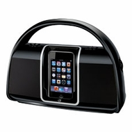 iLIVE (BI100B) Portable Boombox with dock for iPod
