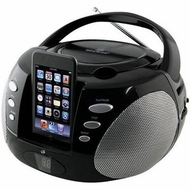 iLIVE (BI300B) Portable Boombox with dock for iPod