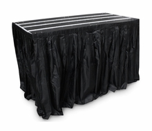 """(ISSK30X96) 30"""" Long X 96"""" Wide Black Stage Skirt with Clips For Rrstandt1"""