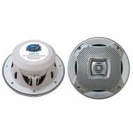 Lanzar (AQ5CXS) 400 Watts 5.25'' 2-Way Marine Speakers (Silver Color) (Pair)
