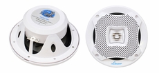 Lanzar (AQ5CXW) 400 Watts 5.25'' 2-Way Marine Speakers (White Color) (Pair)