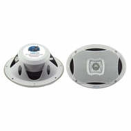 Lanzar (AQ69CXW) 500 Watts 6''X9'' 2-Way Marine Speakers (White Color) (Pair)