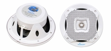Lanzar (AQ6CXW) 400 Watts 6.5'' 2-Way Marine Speakers (White Color) (Pair)