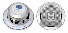 Lanzar (AQ7CXS) 500 Watts 7.7'' 2-Way Marine Speakers (Silver Color) (Pair)