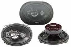 Lanzar (MX7104) 7''' x 10'' 730 Watts 4 Way Coaxial Speaker
